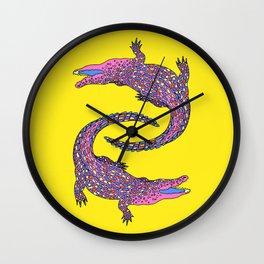 Crocodiles (Pop Art Palette) Wall Clock