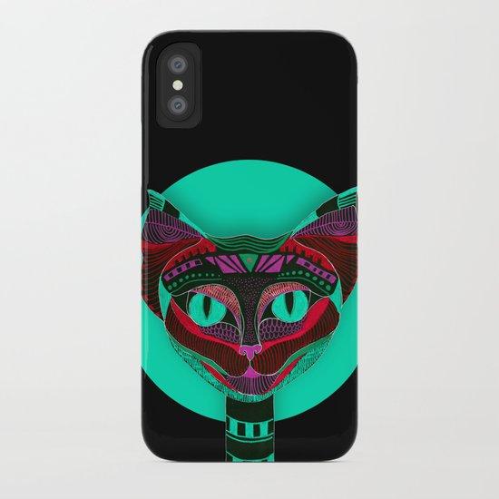 Black CAT- Black iPhone Case
