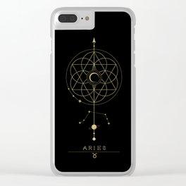 Aries Zodiac Constellation Clear iPhone Case