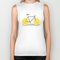 summer Biker Tanks featuring Zest by Florent Bodart / Speakerine