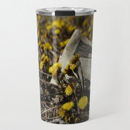Yellow Flower Travel Mug