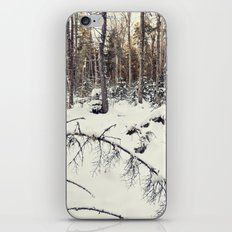 snow in the woods iPhone & iPod Skin