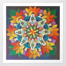 "Mandala ~ ""Changing Turtle Seasons"" Art Print"