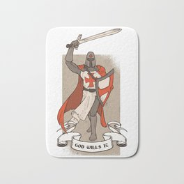 Knight Templar with Sword in Hand Bath Mat