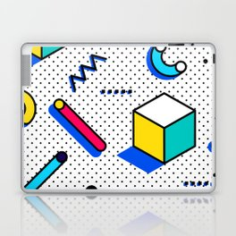 Patern in memphis, pop art style Laptop & iPad Skin