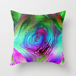Rainbow Vortex Throw Pillow