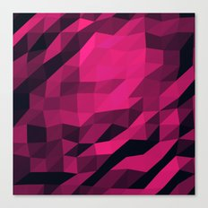 Red Pink Geometric Pattern Canvas Print