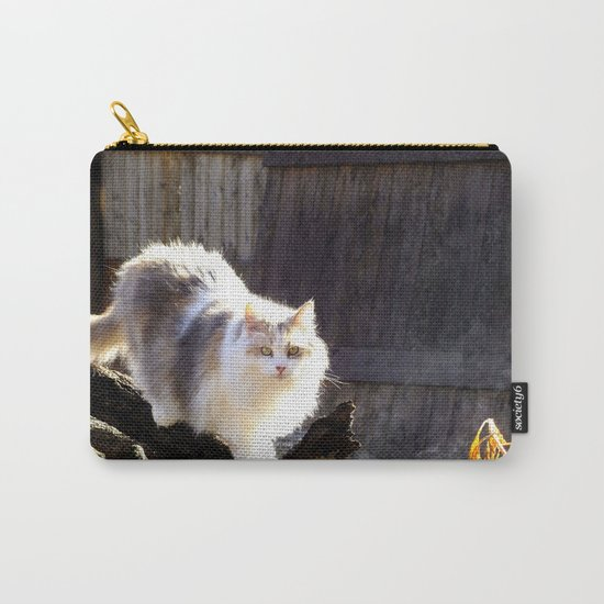 The Beautiful Maine Coon Dilute Calico Carry-All Pouch