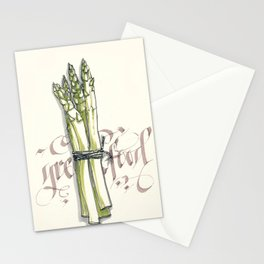 Green food Stationery Cards