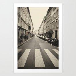 The streets of Paris, France Art Print