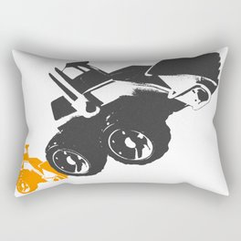 Small Tractor Helping a Big Tractor Rectangular Pillow