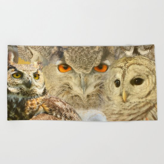 OWL you need is LOVE Beach Towel