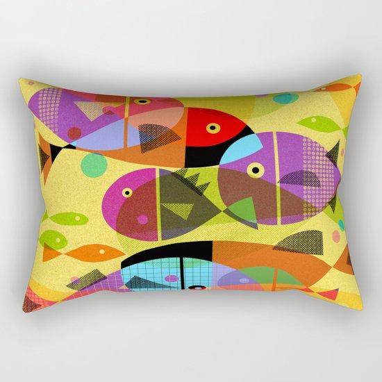 AQUATIC RAINBOW Rectangular Pillow