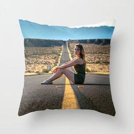 Adventure through the desert Throw Pillow