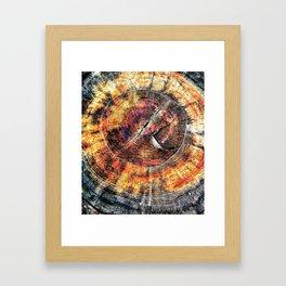 Tree Stump Ring Circle Framed Art Print