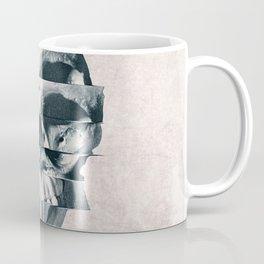 Glitch Skull Mono Coffee Mug