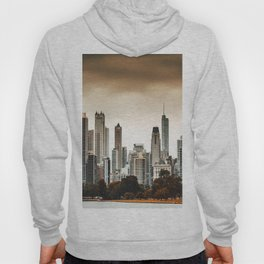 chicago skyline at dusk Hoody