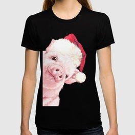 Sneaky Santa Baby Pig T-shirt