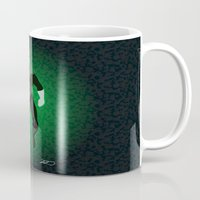green lantern Mugs featuring Green Lantern by The Vector Studio