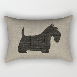 Scottish Terrier Scottie Silhouette Rectangular Pillow
