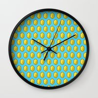 gamer Wall Clocks featuring Gamer Cred by Jango Snow
