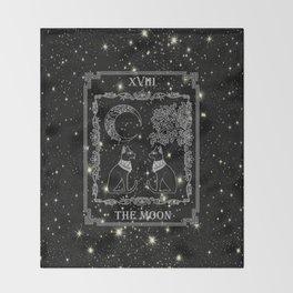 "Tarot ""The Moon"" - silver- cat version Decke"