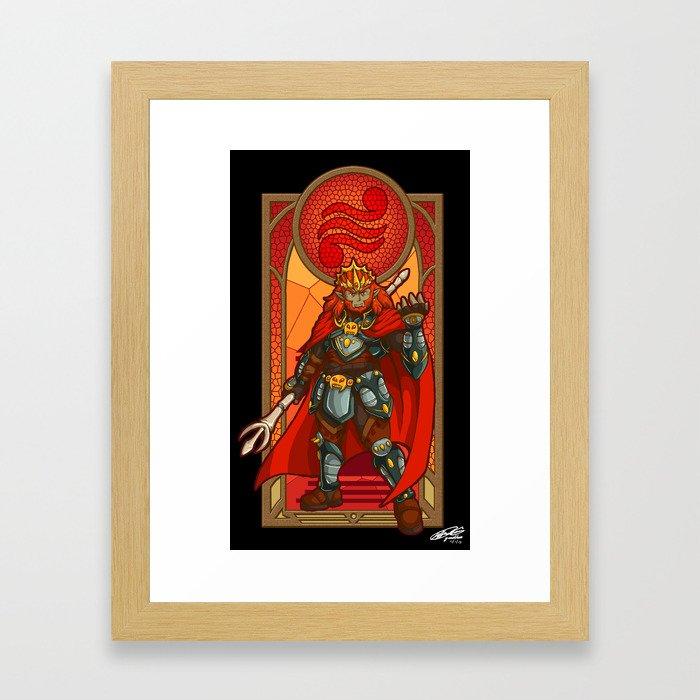 Ganondorf Villain of Power Framed Art Print