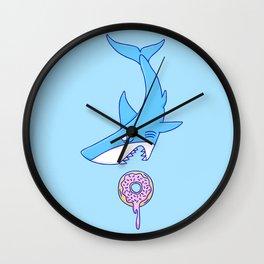 Shark Versus Donut Wall Clock