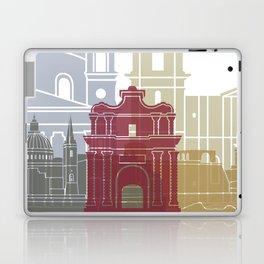 Valletta skyline poster Laptop & iPad Skin