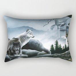 Castle Guards Rectangular Pillow