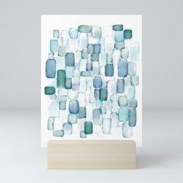Sea Glass Watercolor Mini Art Print