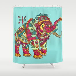 Mammoth, cool wall art for kids and adults alike Shower Curtain