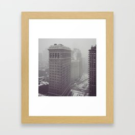 Flatiron Building Winter Framed Art Print