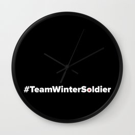#TeamWinterSoldier Hashtag Team Winter Soldier Wall Clock