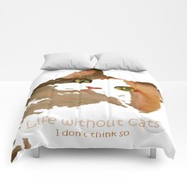 Life Without Cats Comforters