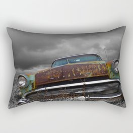 A Classic and a Stormy Sky Rectangular Pillow