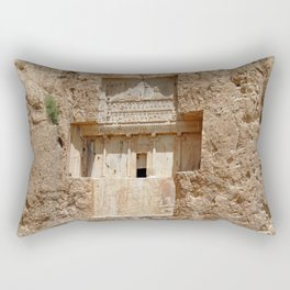 Persian Art Xerxes I Royal Tomb, Naqsh-e-Rustam, Persia, Iran Rectangular Pillow