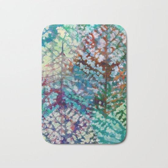 Colorful leaves II Bath Mat