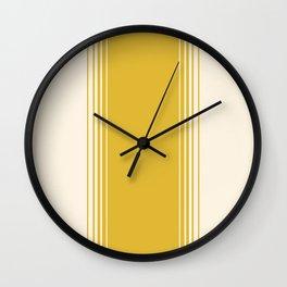 Marigold & Crème Vertical Gradient Wall Clock