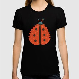 Orange Ladybug Autumn Leaf T-shirt