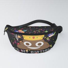 It's My Birthday Poop Emoji Fanny Pack