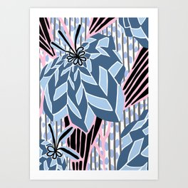 BAYAMO: BOLERO BLUES, Art Deco Tropical Art Print
