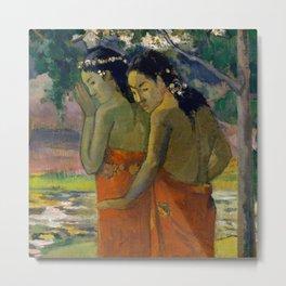 """Paul Gauguin """"Three Tahitian Women"""" Metal Print"""