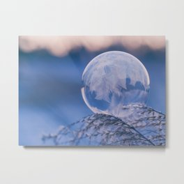 Beautiful Frozen Bubble Metal Print