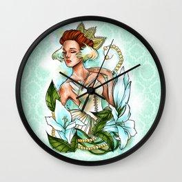 White Swan Ballerina. Wall Clock