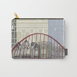 Newcastle skyline poster Carry-All Pouch