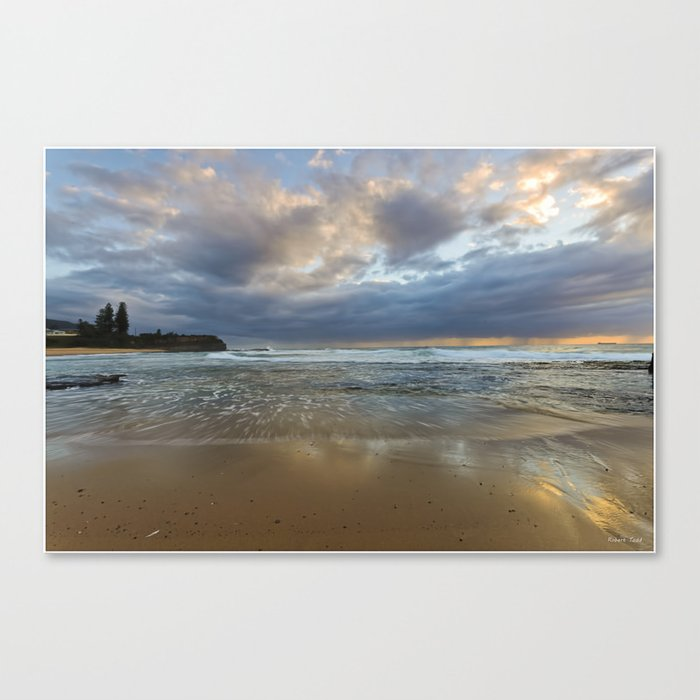Reflections on the shore  Canvas Print