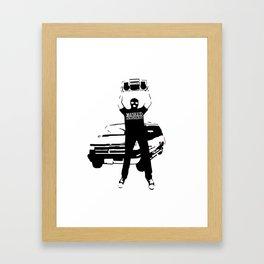 Masked Intruder Say Anything Boombox Framed Art Print
