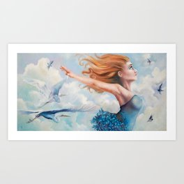 Zephyr, She Flies With Her Own Wings Art Print