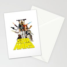 Star War Action Figures Poster - First 12 Stationery Cards
